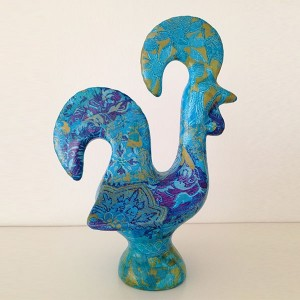 Decorative Rooster Blue